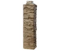 Угол наружный для Цокольного сайдинга Fineber коллекция Скала Песочный
