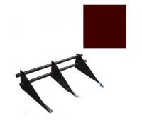 Снегозадержатель комплект цвет Темно-Коричневый 8017