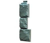 Угол наружный для Цокольного сайдинга Fineber коллекция Камень крупный Серо-зеленый