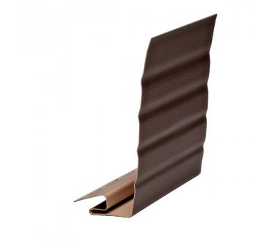 J-фаска ( ветровая, карнизная планка ) коричневая для винилового сайдинга Ю-пласт