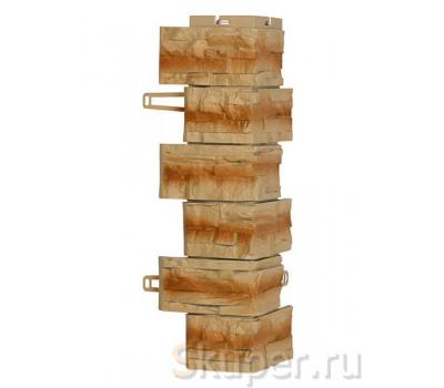 Угол для цокольного сайдинга Royal Stone Скалистый камень - Буффало