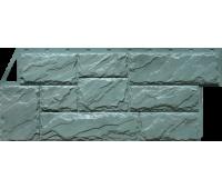 Цокольный сайдинг Fineber коллекция Камень Крупный - Серо-зелёный