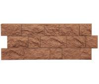 Цокольный сайдинг (фасадные панели) Docke (Деке) , Fels (скала), Terrafels Терракотовый