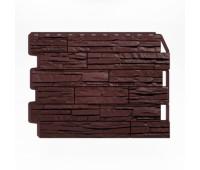 Цокольный сайдинг Holzplast Wandstein Скол тёмно-коричневый
