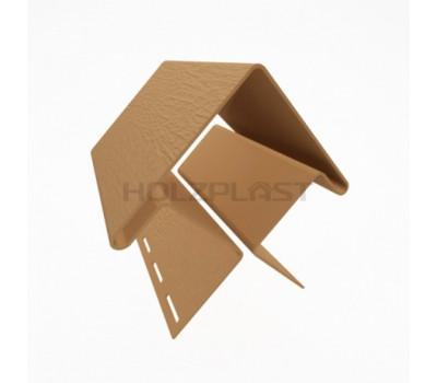 Внешний угол для винилового бревна Holzblock (Хольцблок), Каштан (3,00м)