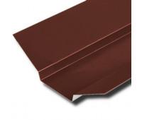 Ендова верхняя 130х30х130 мм для металлочерепицы