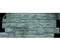 Цокольный сайдинг Fineber коллекция камень дикий - Серо-зелёный