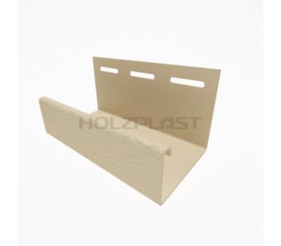 J-профиль для винилового бревна Holzblock (Хольцблок), Светло-бежевый (3,00м)