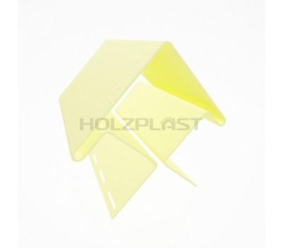 Внешний угол для винилового бревна Holzblock (Хольцблок), Светло-желтый (3,00м)