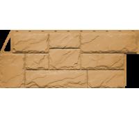 Цокольный сайдинг Fineber коллекция Камень Крупный - Песочный