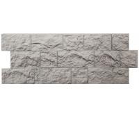 Цокольный сайдинг (фасадные панели) Docke (Деке) , Fels (скала), Northfels Perlfels Жемчужный
