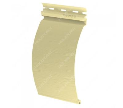 Виниловый сайдинг Holzplast Holzblock (Хольцблок) под бревно, Светло-желтый