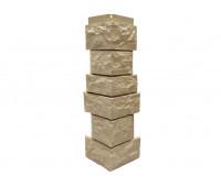Угол наружный Цокольный сайдинг NORDSIDE «Камень северный» Бежевый