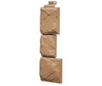 Угол наружный для Цокольного сайдинга Fineber коллекция Камень крупный Терракотовый