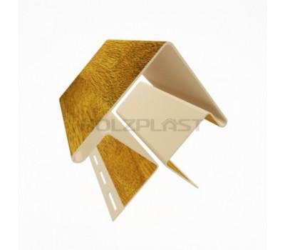 Внешний угол для винилового бревна Holzblock (Хольцблок), Золотой дуб (3,00м)