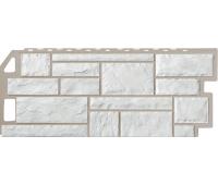 Цокольный сайдинг Fineber коллекция камень - Мелованный белый