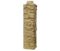 Угол наружный для Цокольного сайдинга Fineber коллекция Скала Бежевый