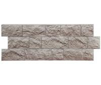 Цокольный сайдинг (фасадные панели) Docke (Деке) , Fels (скала), Muttfels Перламутровый