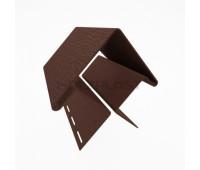 Внешний угол для винилового бревна Holzblock (Хольцблок), Темно-коричневый (3,00м)