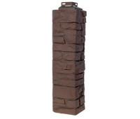 Угол наружный для Цокольного сайдинга Fineber коллекция Скала Желто-коричневый