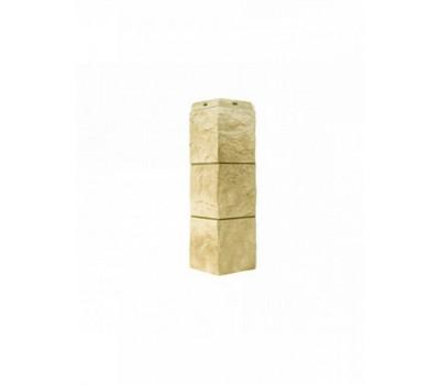 Угол наружный для Цокольного сайдинга Docke коллекция Fels Слоновая кость