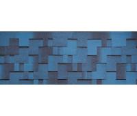 Гибкая черепица Tegola (Тегола) Коллекция Альпин Синий с отливом