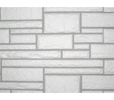 Цокольный сайдинг Nailite Hand-Cut Stone (Дворцовый Камень) GLACIER WHITE