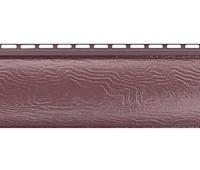 Виниловый сайдинг Альта Профиль Blockhouse (Блокхаус - под бревно) акриловый, однопереломный, Красно-коричневый