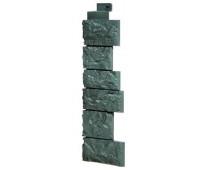 Угол наружный для Цокольного сайдинга Fineber коллекция Дикий камень Серо-зеленый