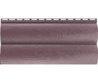 Виниловый сайдинг Альта Профиль Blockhouse (Блокхаус - под бревно) акриловый, двухпереломный, Красно-коричневый