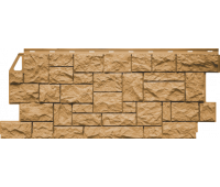 Цокольный сайдинг Fineber коллекция камень дикий- Песочный