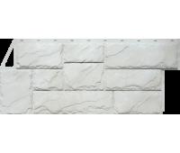 Цокольный сайдинг Fineber коллекция Камень Крупный - Мелованный белый