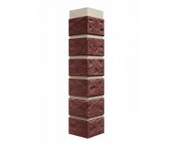 Угол наружный для Цокольного сайдинга Fineber коллекция  Кирпич Красный