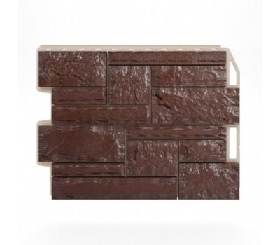 Цокольный сайдинг Holzplast Wandstein Бут Dunkelbraun / Темно-коричневый
