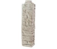 Угол наружный для Цокольного сайдинга Fineber коллекция Скала Мелованный белый