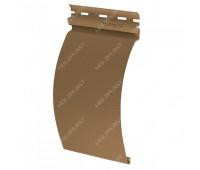 Виниловый сайдинг Holzplast Holzblock (Хольцблок) под бревно, Каштан