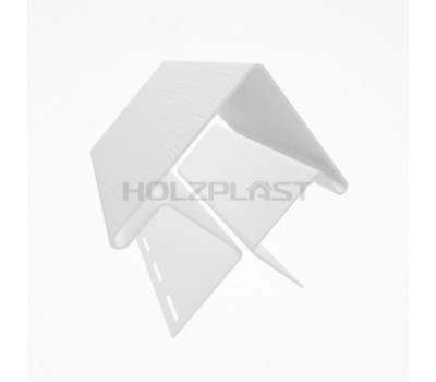 Внешний угол для винилового бревна Holzblock (Хольцблок), Белый (3,00м)