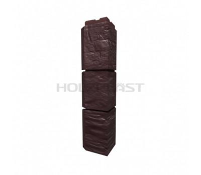 Внешний Угол Holzplast Wandstein для коллекции Туф Темно-коричневый