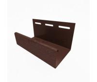 J-профиль для винилового бревна Holzblock (Хольцблок), Темно-коричневый (3,00м)