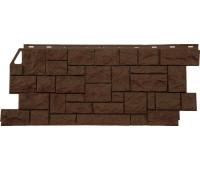 Цокольный сайдинг Fineber коллекция камень дикий - Коричневый