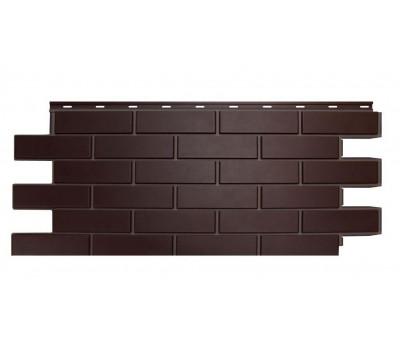 Цокольный сайдинг NORDSIDE «Кирпич гладкий» Темно-коричневый