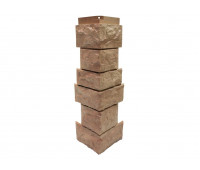 Угол наружный Цокольный сайдинг NORDSIDE «Камень северный» Терракотовый