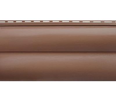 Сайдинг Альта Профиль Blockhouse (Блокхаус - под бревно) акриловый, двухпереломный, Красно-коричневый
