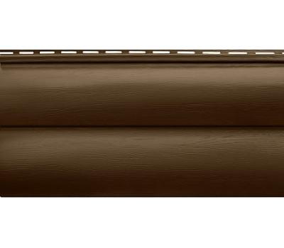 Сайдинг Альта Профиль Blockhouse (Блокхаус - под бревно) акриловый, двухпереломный, Темный орех