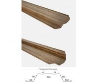 Прямоугольный штакетник с фигурным краем Print double 0,45 мм
