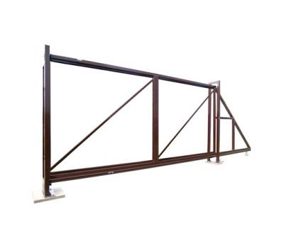 Ворота откатные оцинкованные без заполнения
