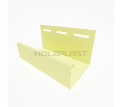 J-профиль для винилового бревна Holzblock (Хольцблок), Светло-желый 3,00м