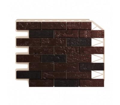 Цокольный сайдинг Holzplast Wandstein Кирпич Dunkelbraun / Темно-коричневый