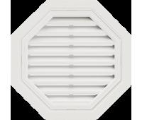 Восьмиугольная фронтонная вентиляционная решётка, для сайдинга, белая