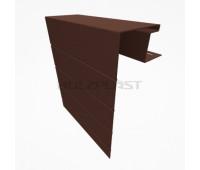Околооконная планка для винилового бревна Holzblock (Хольцблок), Темно-коричневый (3,00м)